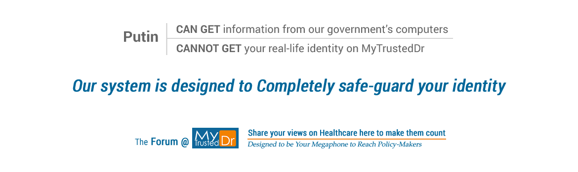 We enable honest discussions by protecting real-life identities of registered physicians and patients